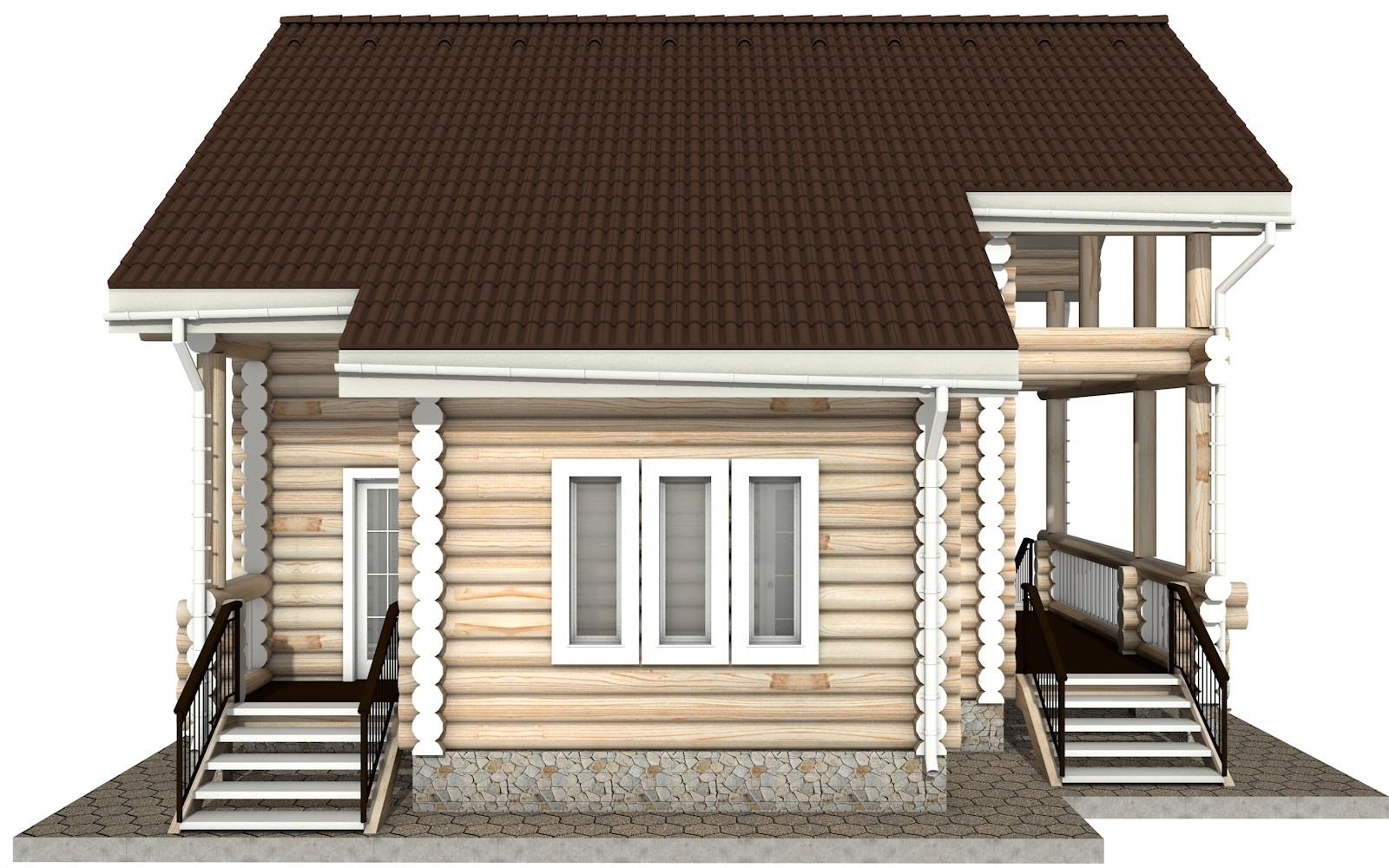 Фото #7: Красивый деревянный дом РС-15 из бревна