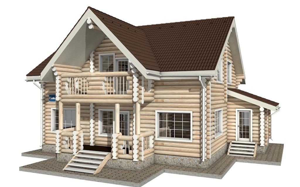Фото #4: Красивый деревянный дом РС-16 из бревна