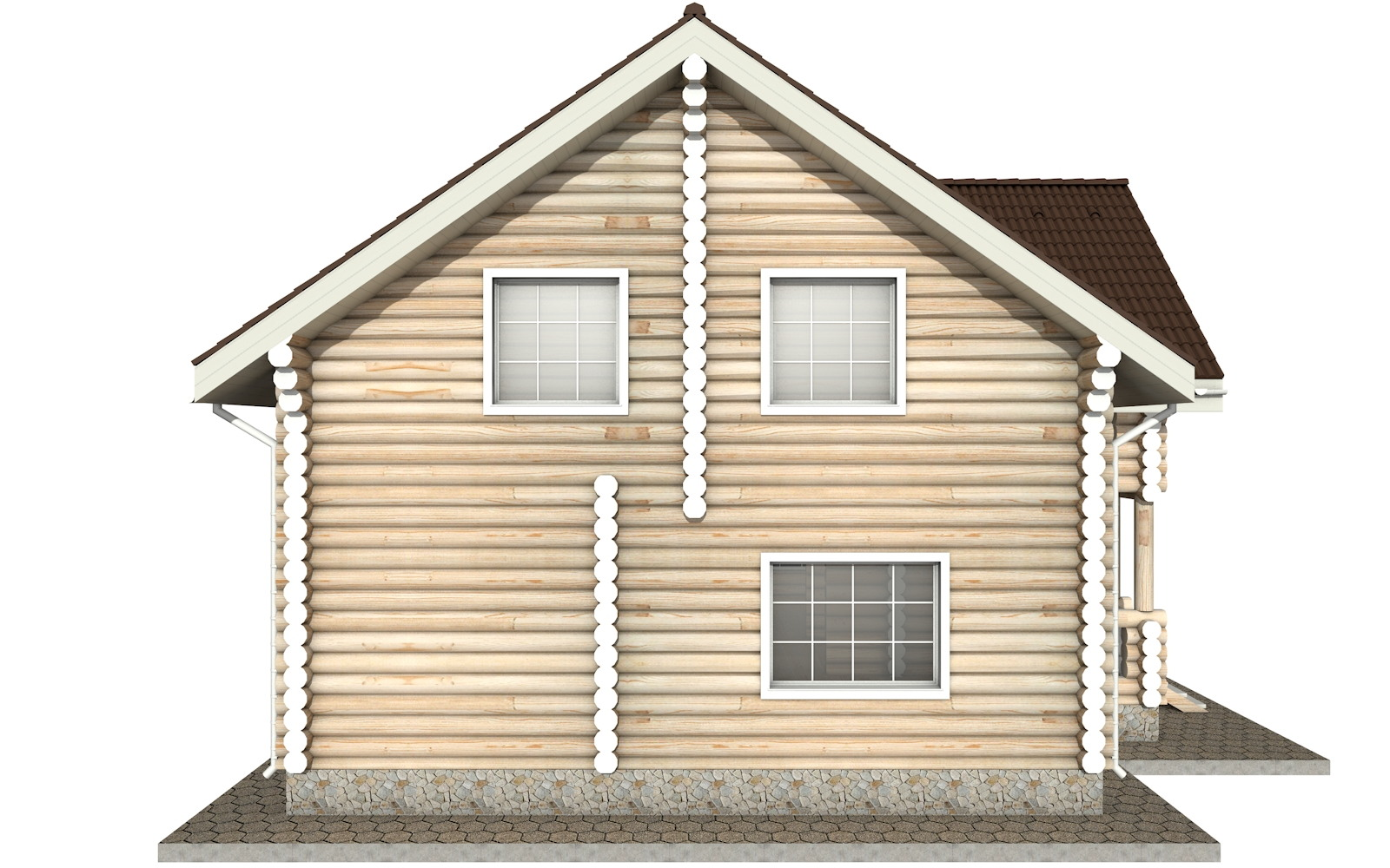 Фото #7: Красивый деревянный дом РС-16 из бревна
