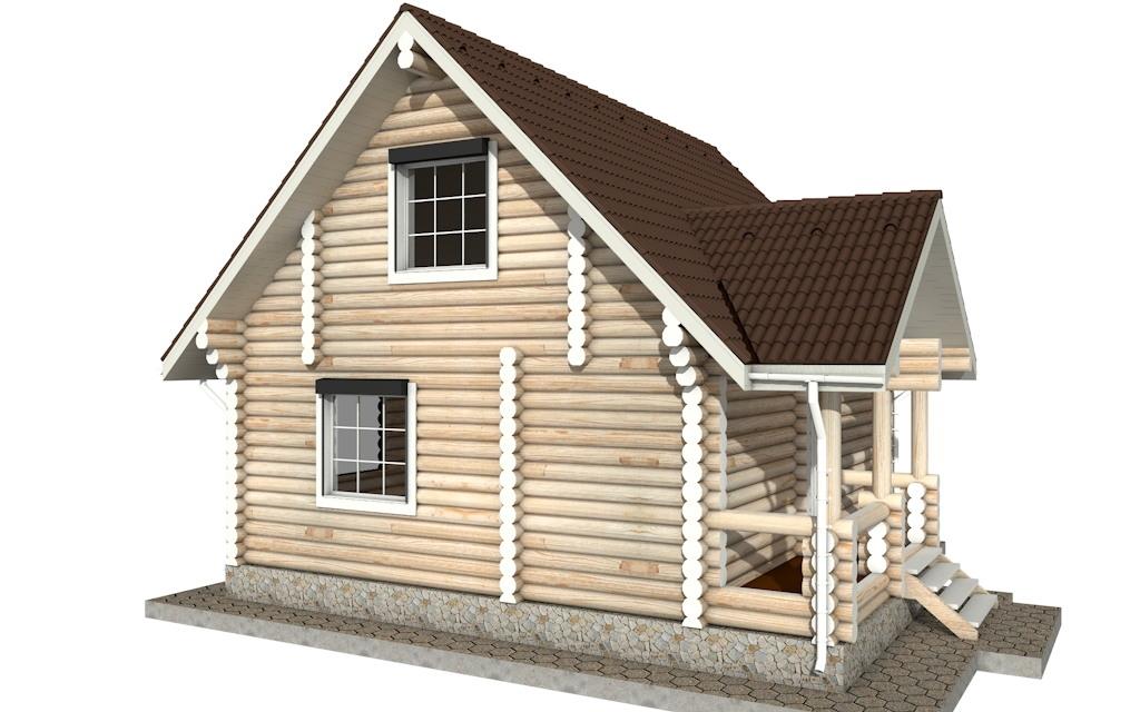 Фото #2: Красивый деревянный дом РС-17 из бревна