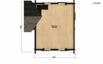 Фото #5: Красивый деревянный дом РС-17 из бревна