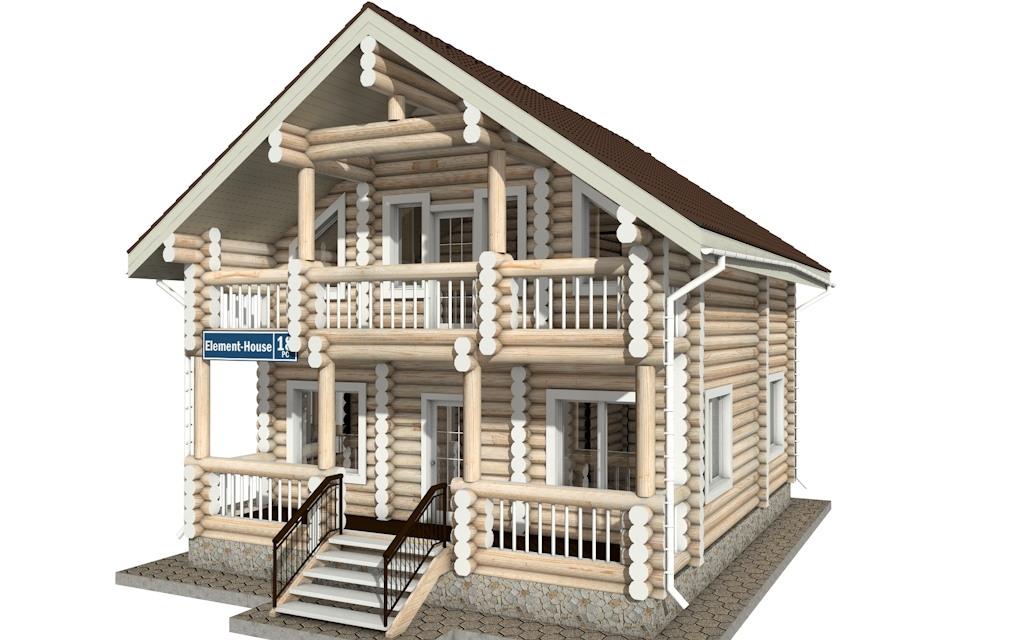 Фото #4: Красивый деревянный дом РС-18 из бревна