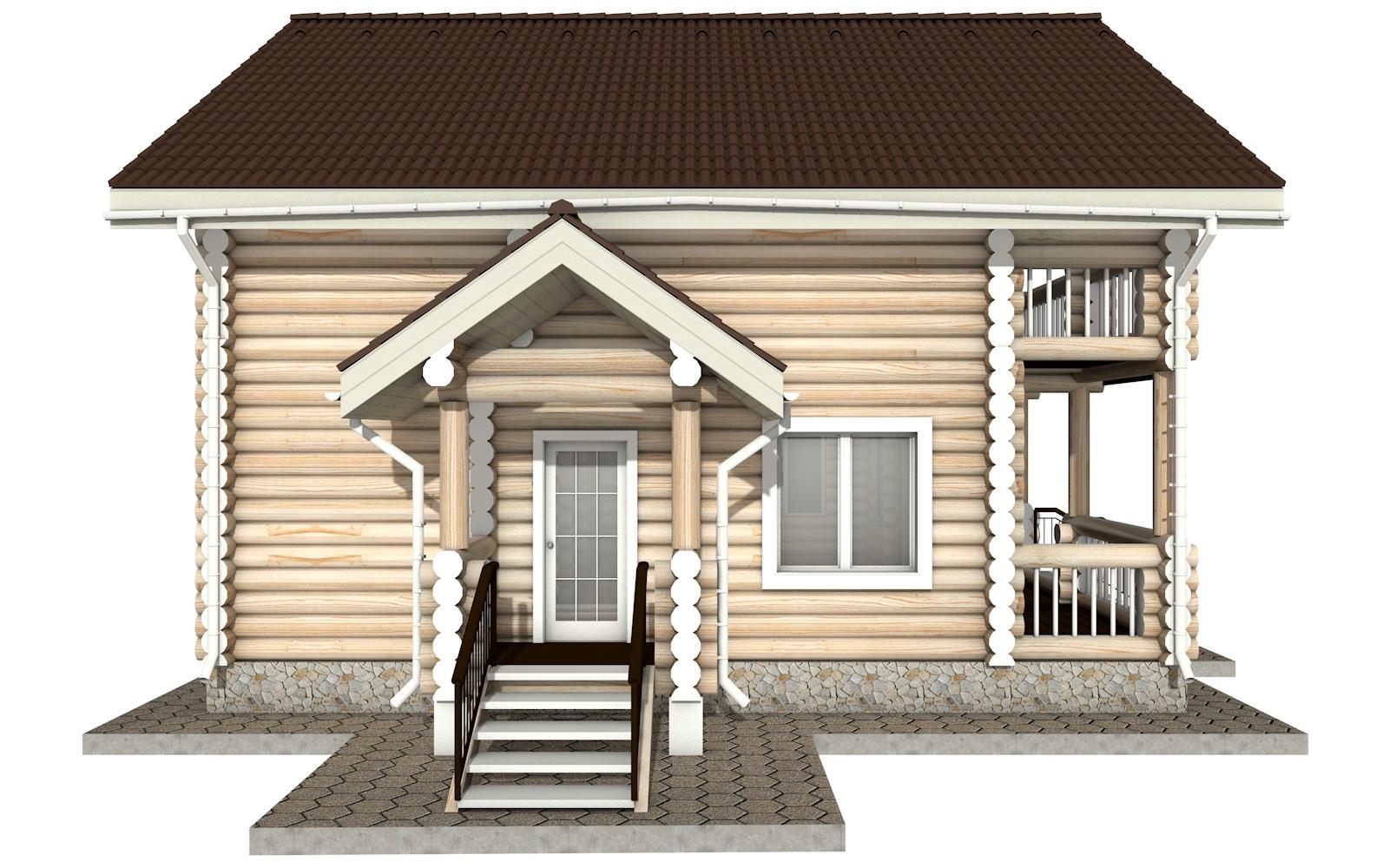 Фото #7: Красивый деревянный дом РС-18 из бревна