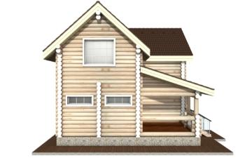 Фото #8: Красивый деревянный дом РС-2 из бревна