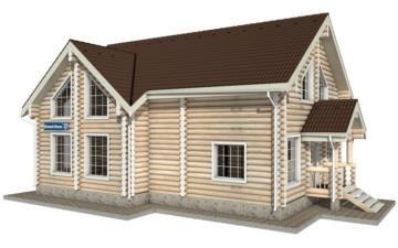 Фото #2: Красивый деревянный дом РС-19 из бревна