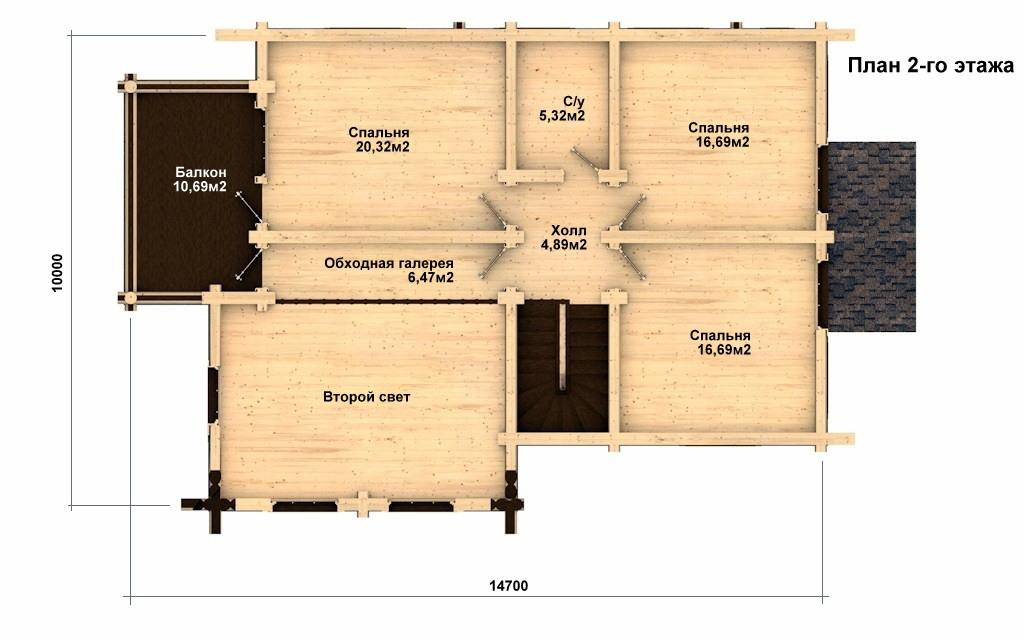 Фото #5: Красивый деревянный дом РС-19 из бревна