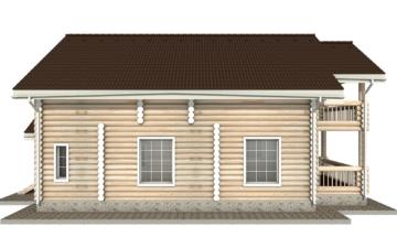 Фото #8: Красивый деревянный дом РС-19 из бревна
