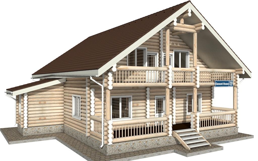 Фото #4: Красивый деревянный дом РС-20 из бревна