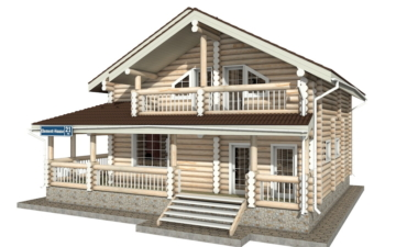 Фото #2: Красивый деревянный дом РС-21 из бревна