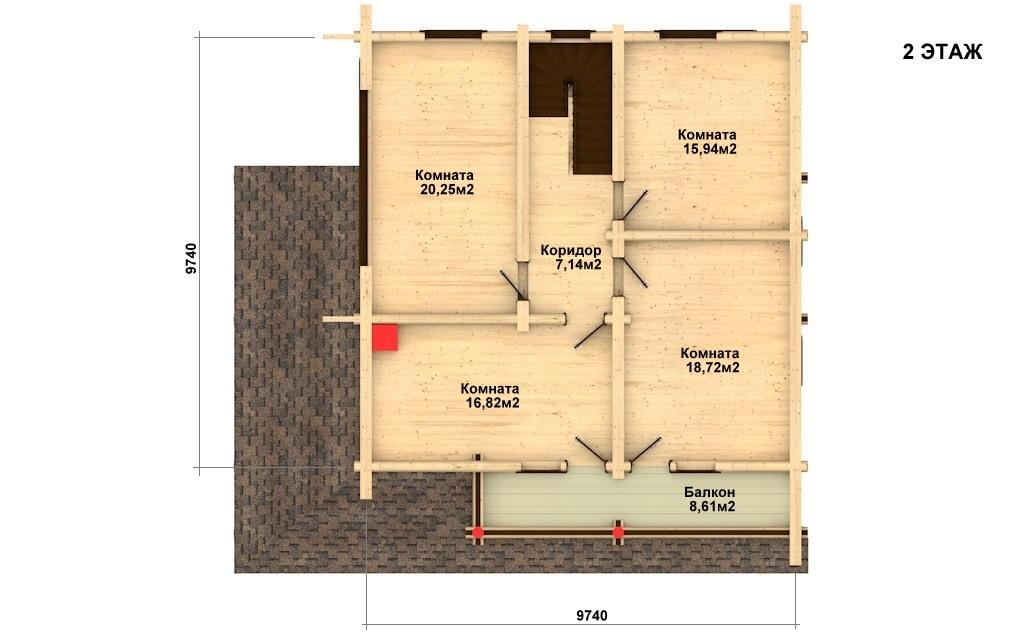 Фото #5: Красивый деревянный дом РС-21 из бревна