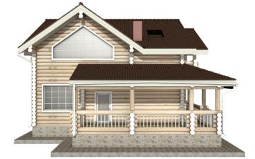 Фото #8: Красивый деревянный дом РС-21 из бревна
