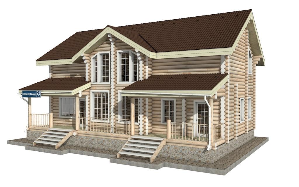 Фото #2: Красивый деревянный дом РС-22 из бревна