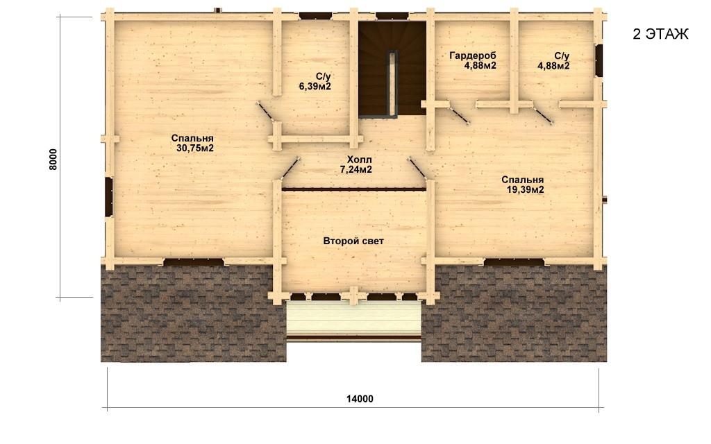 Фото #5: Красивый деревянный дом РС-22 из бревна