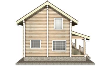 Фото #8: Красивый деревянный дом РС-22 из бревна