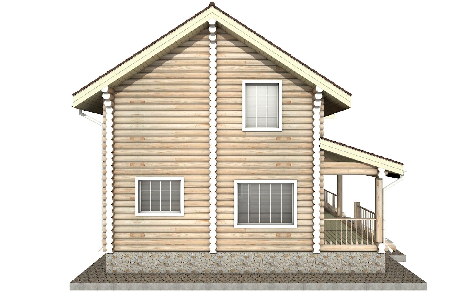 Фото #7: Красивый деревянный дом РС-22 из бревна