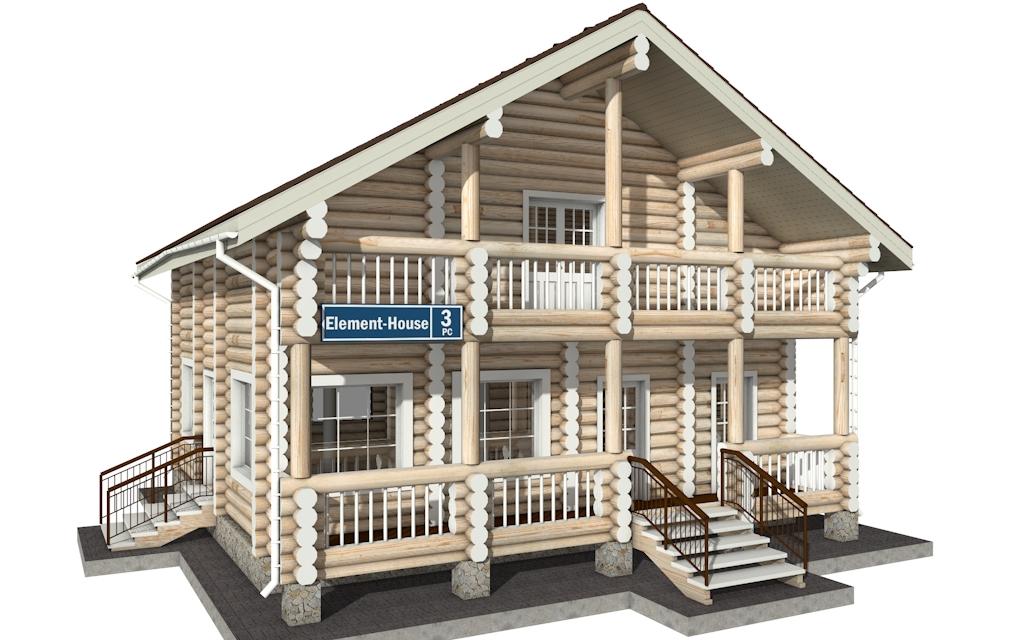 Фото #4: Красивый деревянный дом РС-3 из бревна