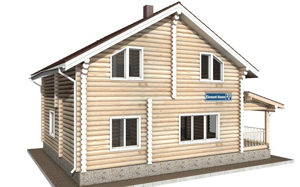 Фото #4: Красивый деревянный дом РС-23 из бревна