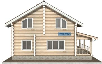 Фото #8: Красивый деревянный дом РС-23 из бревна