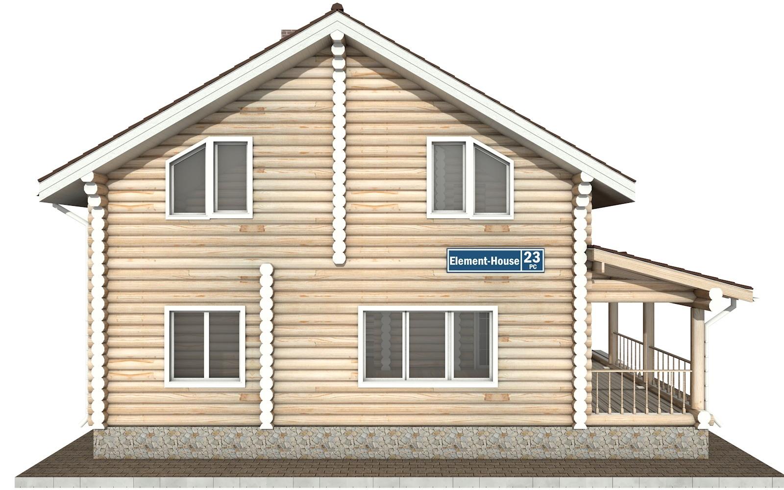Фото #7: Красивый деревянный дом РС-23 из бревна