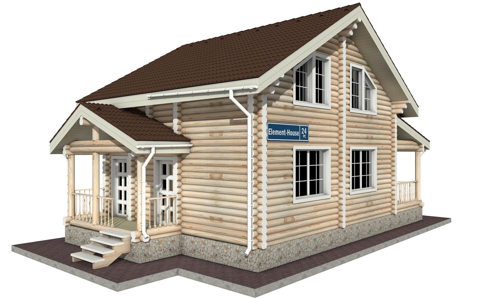 Фото #2: Красивый деревянный дом РС-24 из бревна