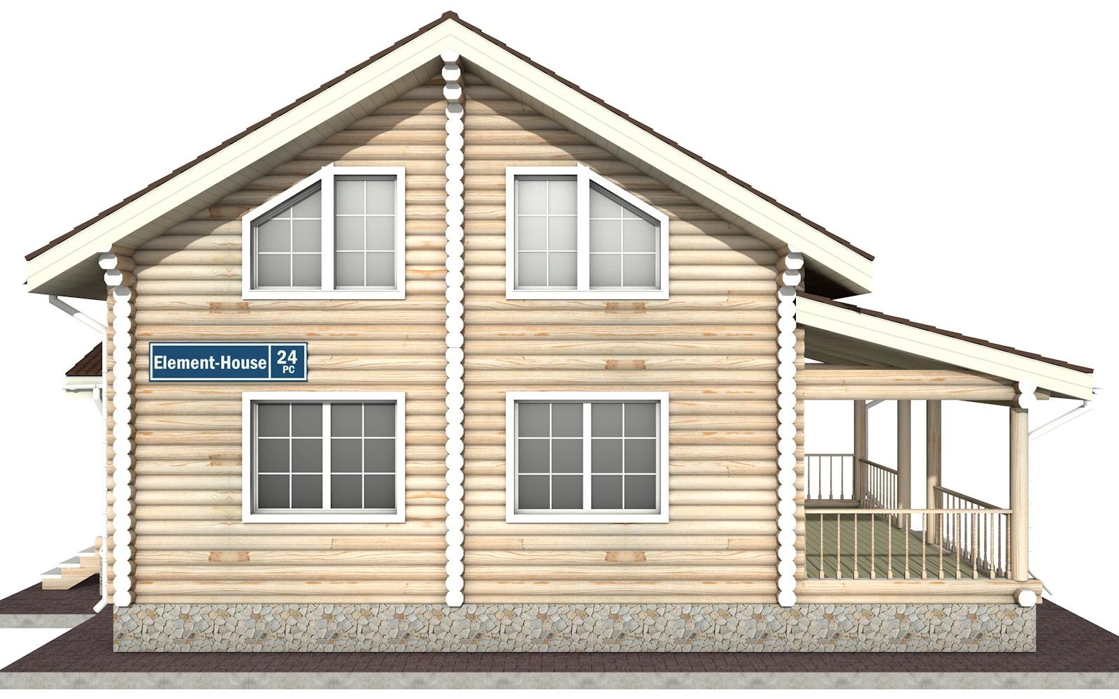 Фото #7: Красивый деревянный дом РС-24 из бревна