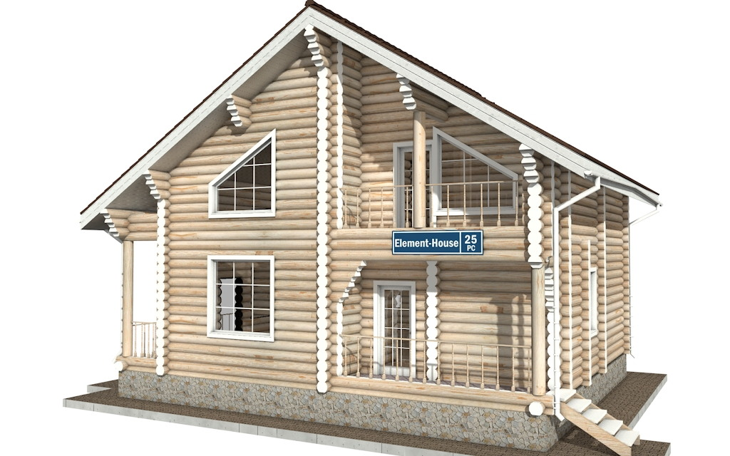 Фото #2: Красивый деревянный дом РС-25 из бревна