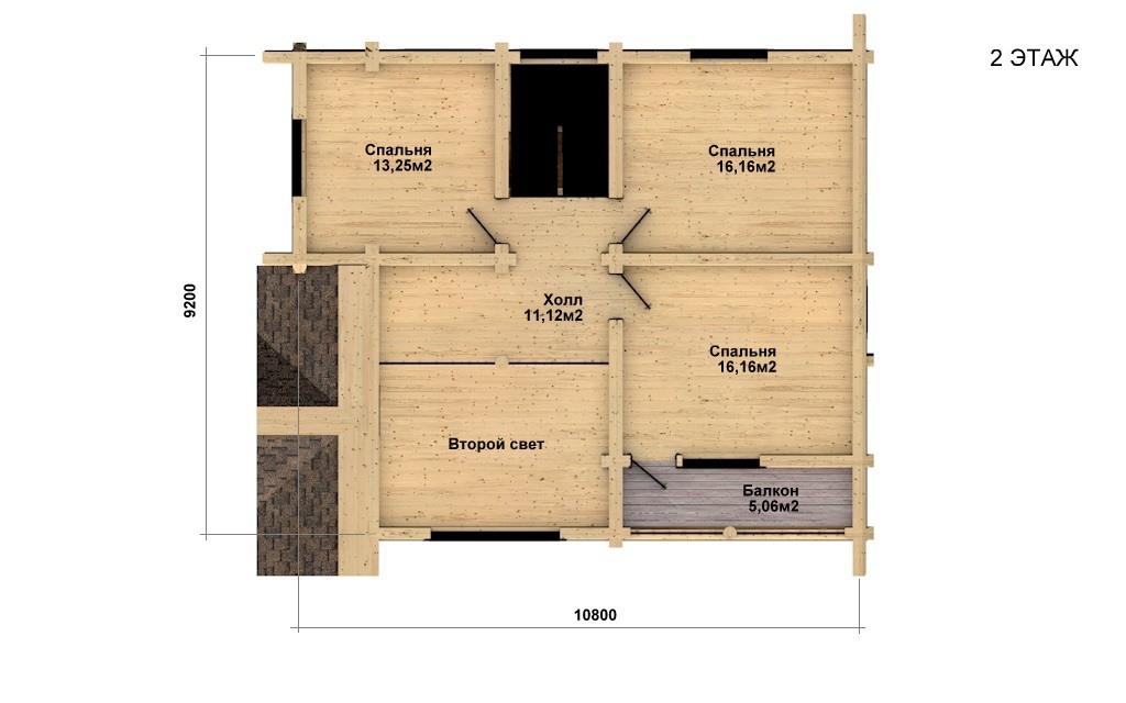 Фото #5: Красивый деревянный дом РС-25 из бревна