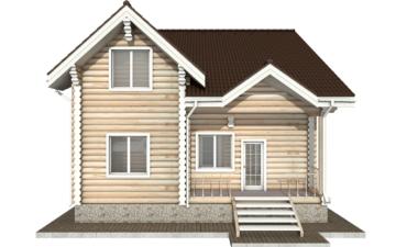Фото #8: Красивый деревянный дом РС-25 из бревна