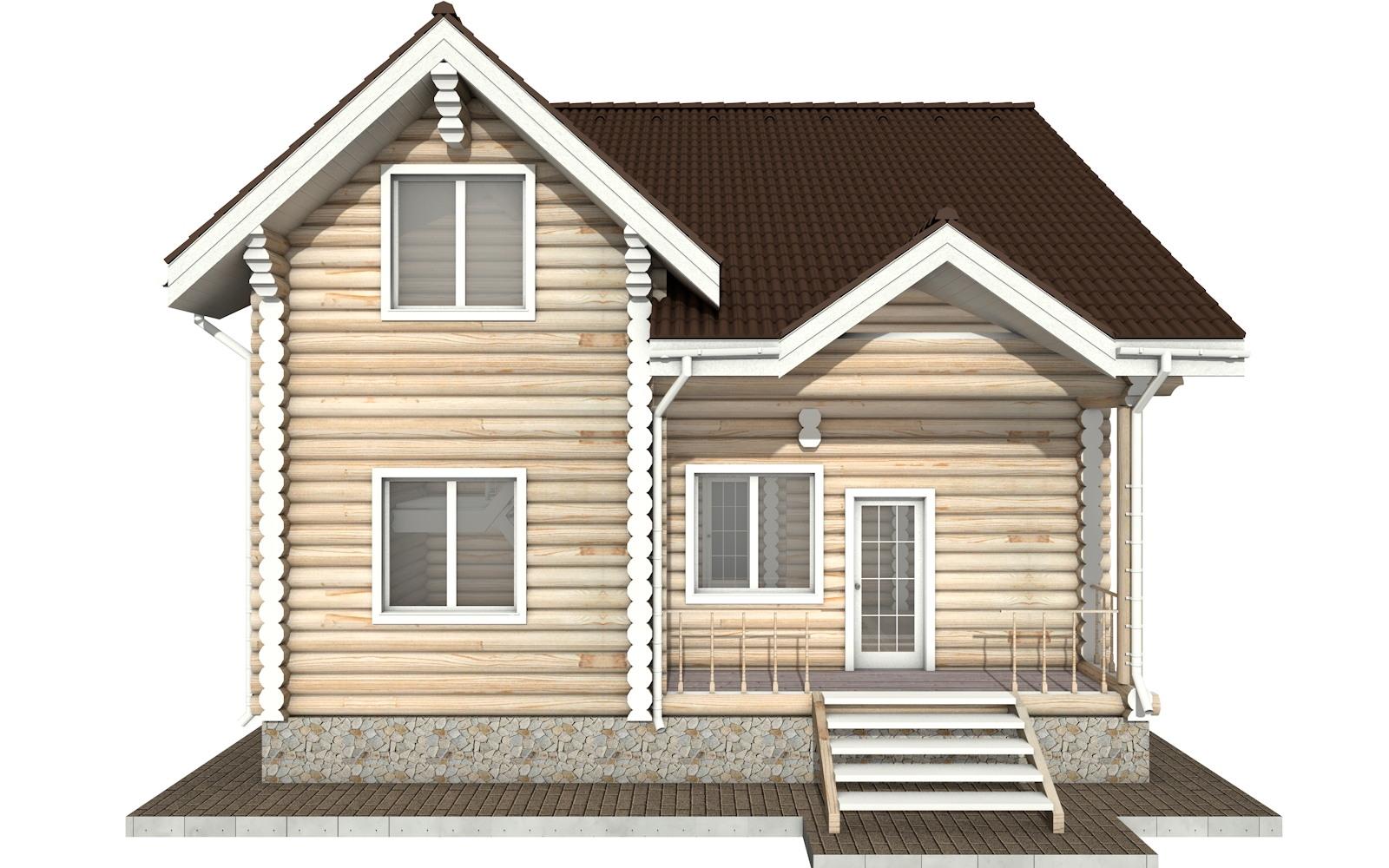 Фото #7: Красивый деревянный дом РС-25 из бревна