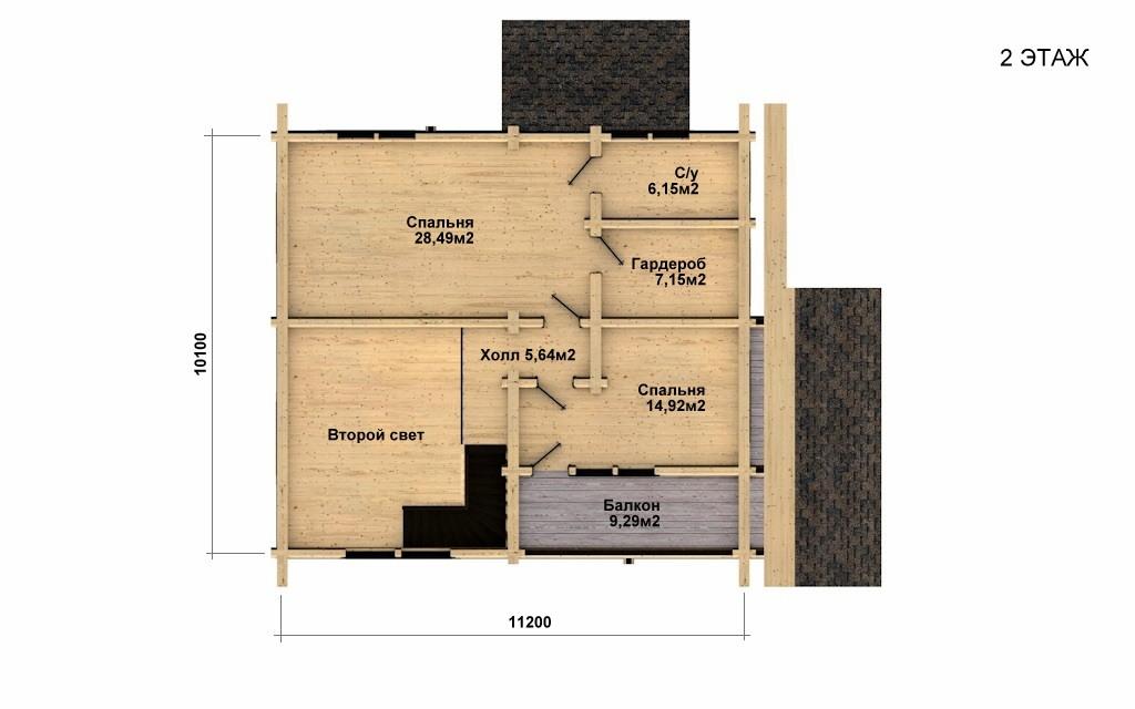 Фото #5: Красивый деревянный дом РС-26 из бревна