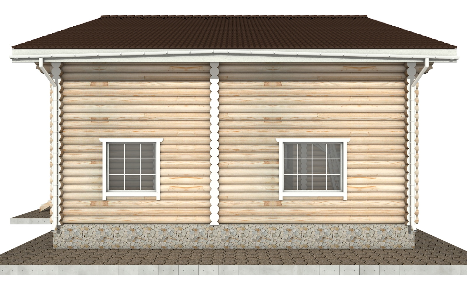 Фото #7: Красивый деревянный дом РС-26 из бревна