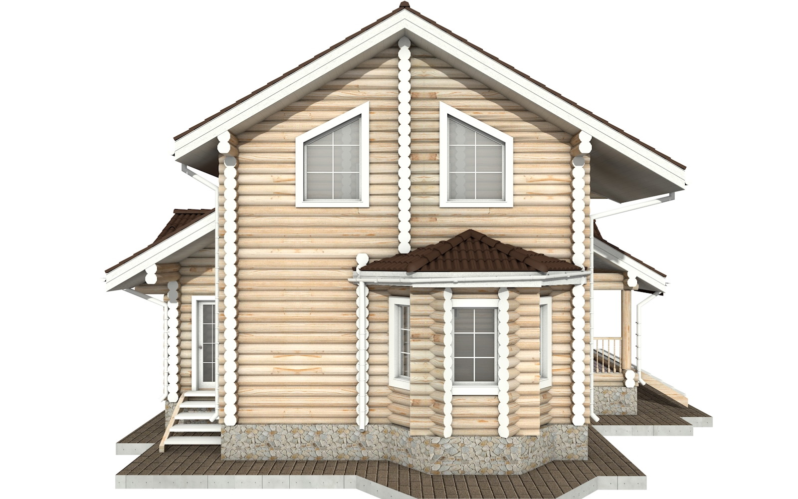 Фото #7: Красивый деревянный дом РС-27 из бревна