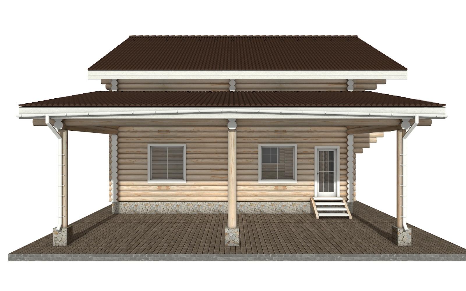 Фото #7: Красивый деревянный дом РС-28 из бревна