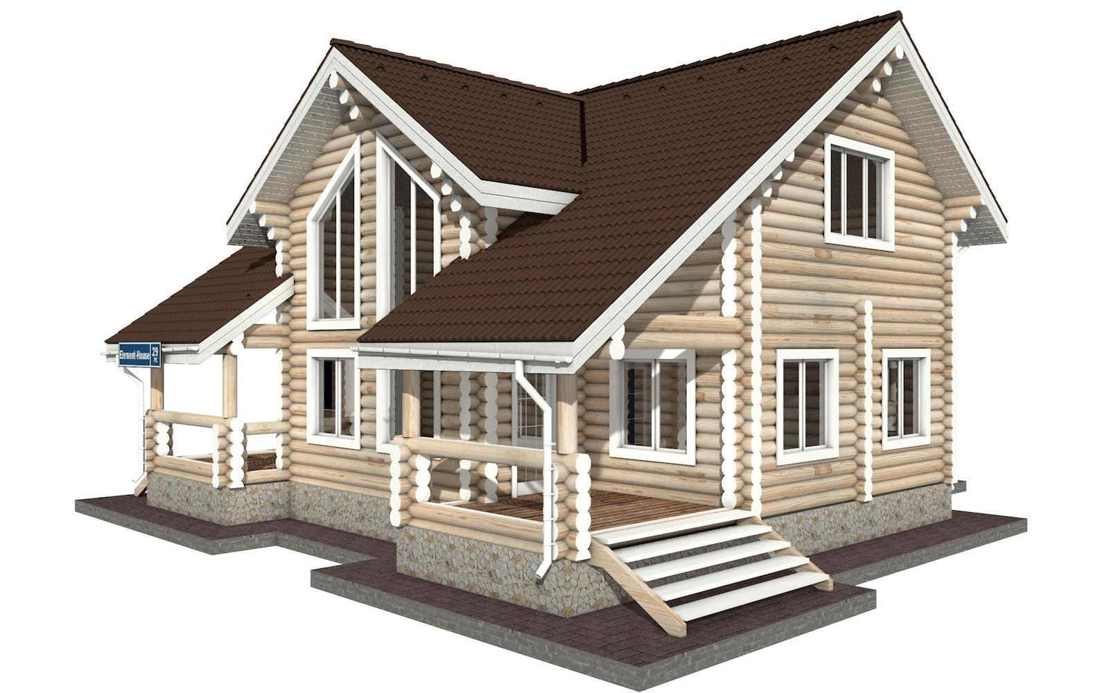 Фото #4: Красивый деревянный дом РС-29 из бревна
