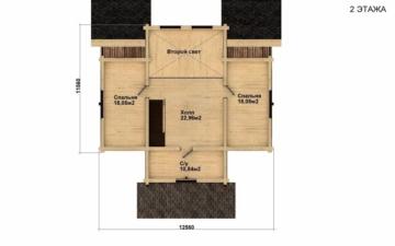 Фото #3: Красивый деревянный дом РС-29 из бревна