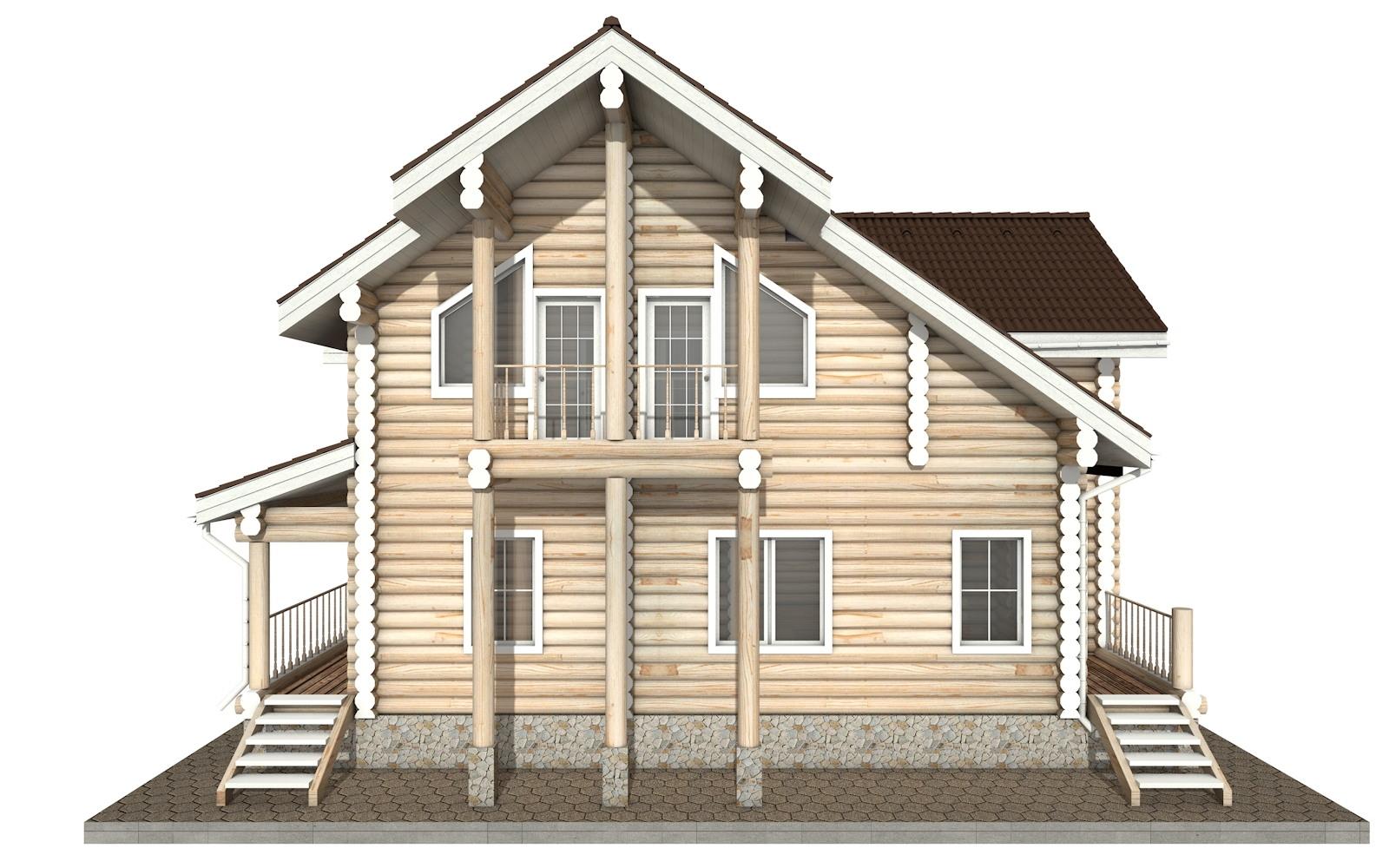 Фото #7: Красивый деревянный дом РС-30 из бревна