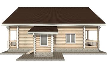 Фото #8: Красивый деревянный дом РС-20 из бревна