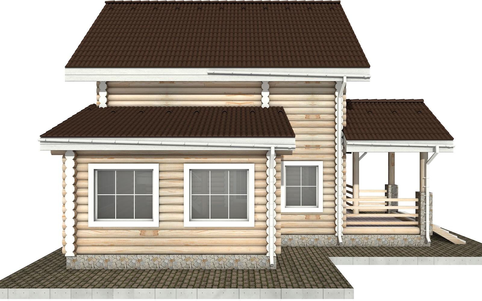 Фото #7: Красивый деревянный дом РС-31 из бревна