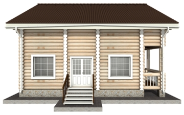 Фото #8: Красивый деревянный дом РС-3 из бревна