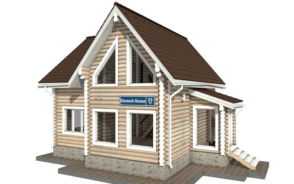 Фото #2: Красивый деревянный дом РС-33 из бревна