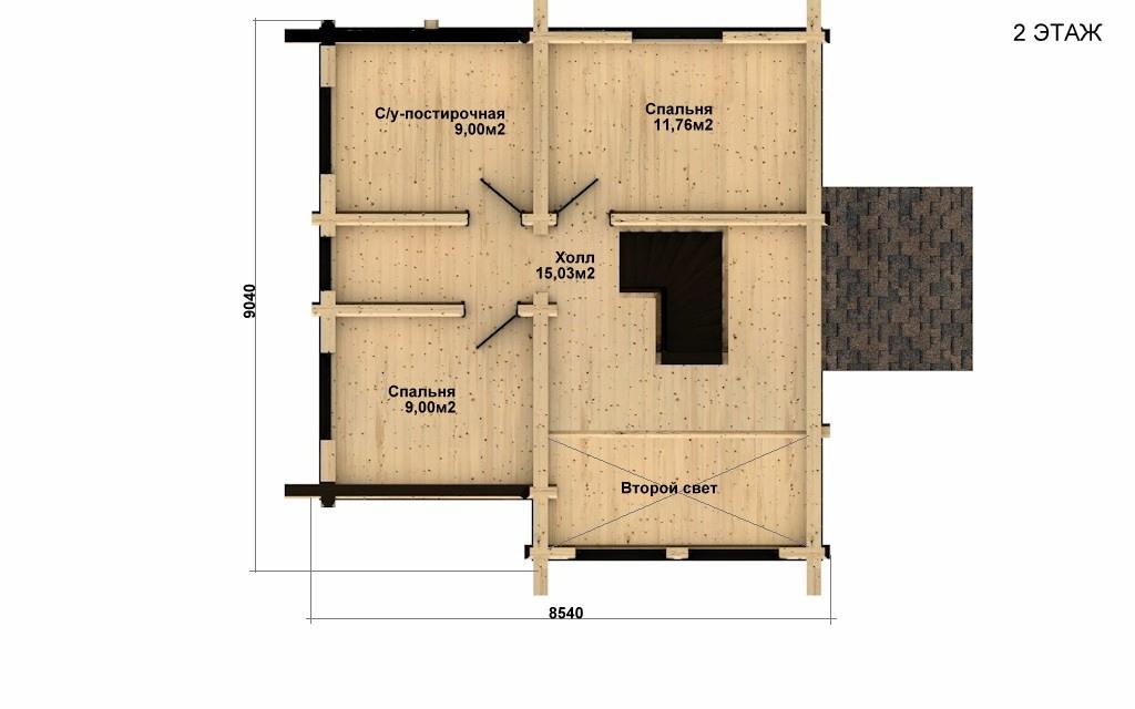 Фото #5: Красивый деревянный дом РС-33 из бревна