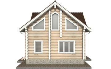 Фото #8: Красивый деревянный дом РС-33 из бревна