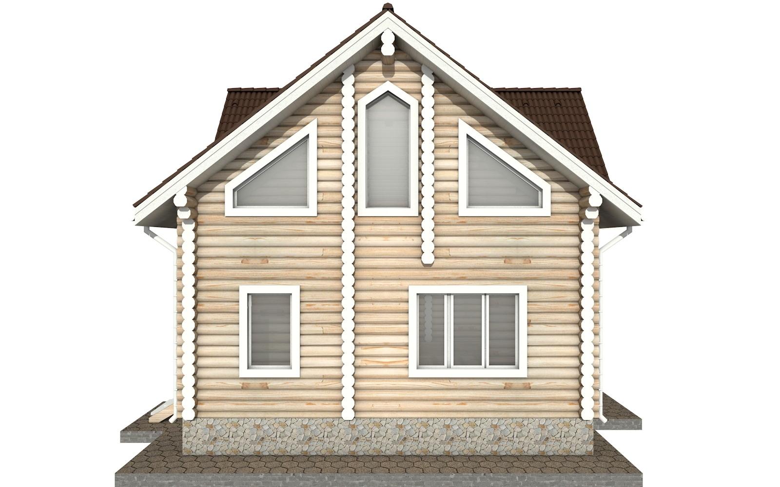Фото #7: Красивый деревянный дом РС-33 из бревна