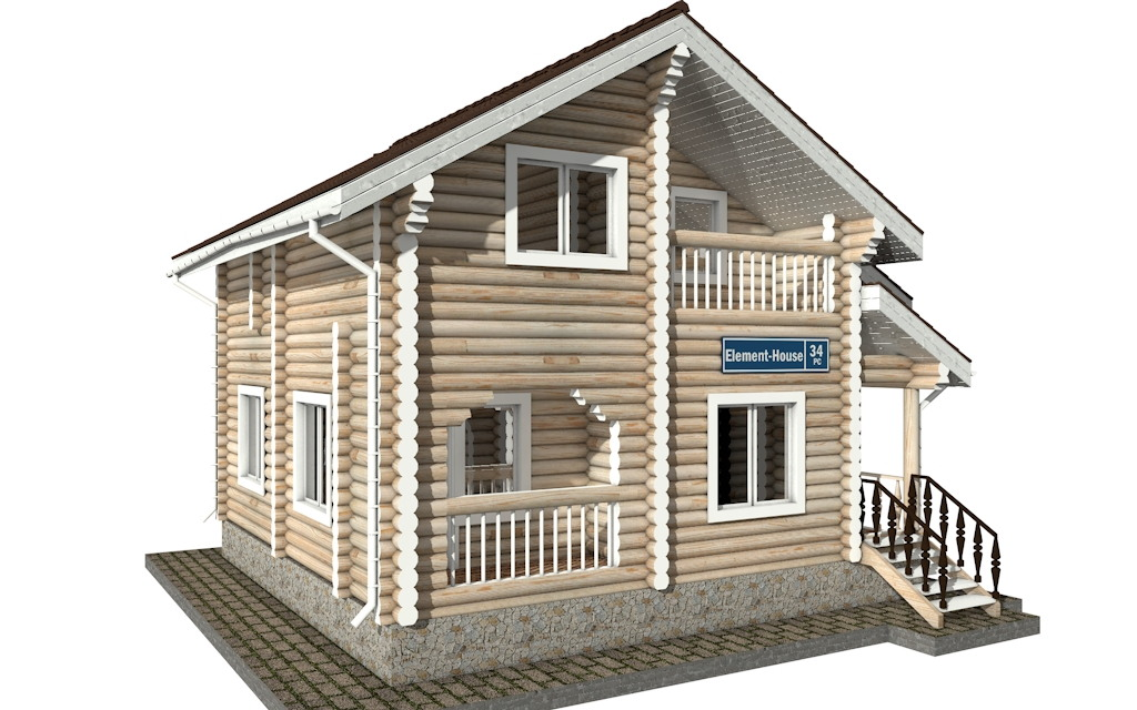 Фото #4: Красивый деревянный дом РС-34 из бревна