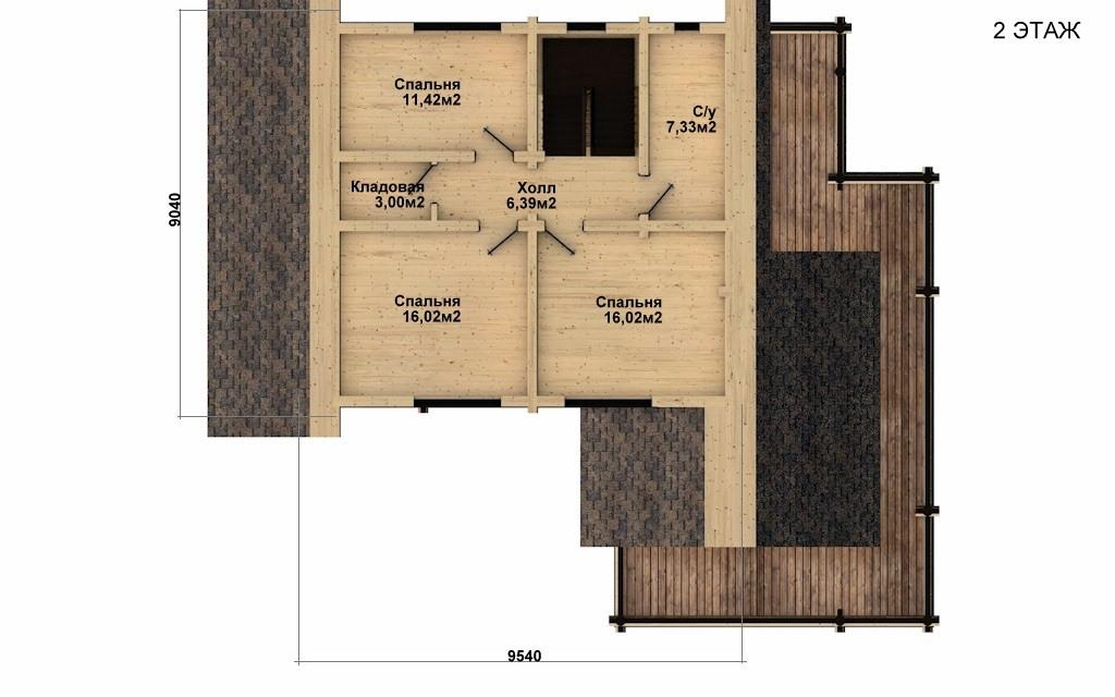 Фото #5: Красивый деревянный дом РС-35 из бревна