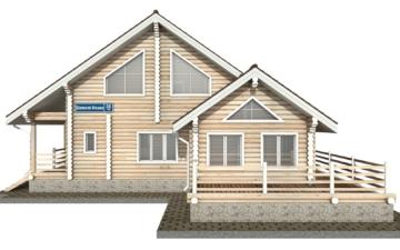 Фото #8: Красивый деревянный дом РС-35 из бревна