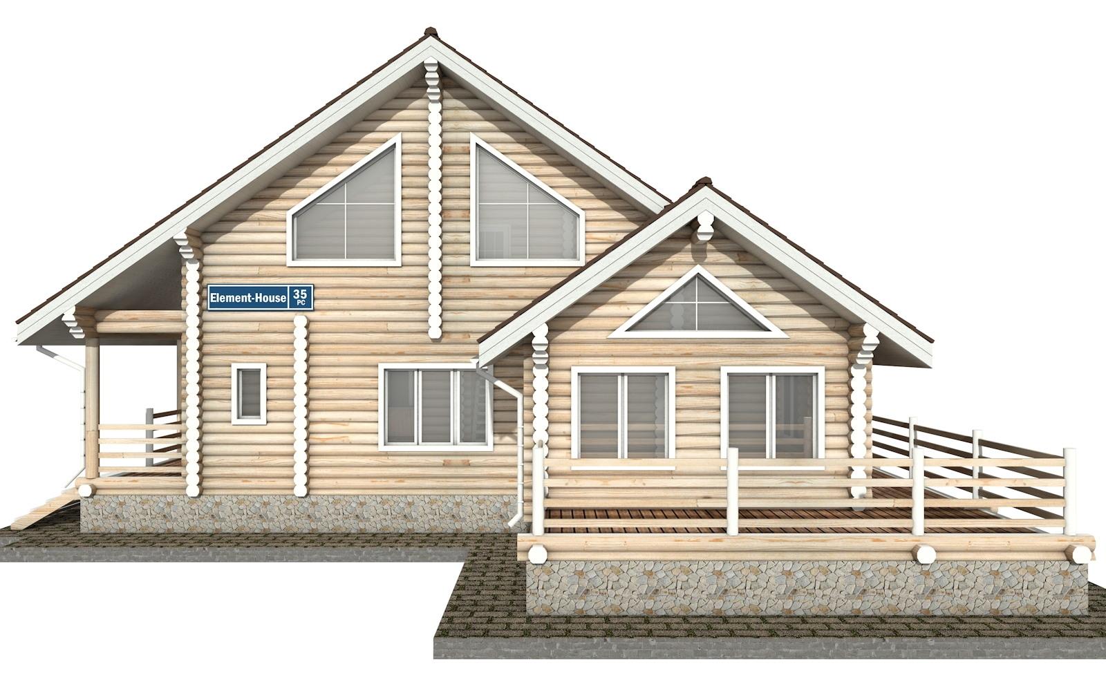 Фото #7: Красивый деревянный дом РС-35 из бревна