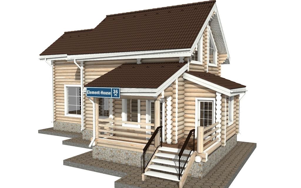 Фото #2: Красивый деревянный дом РС-36 из бревна