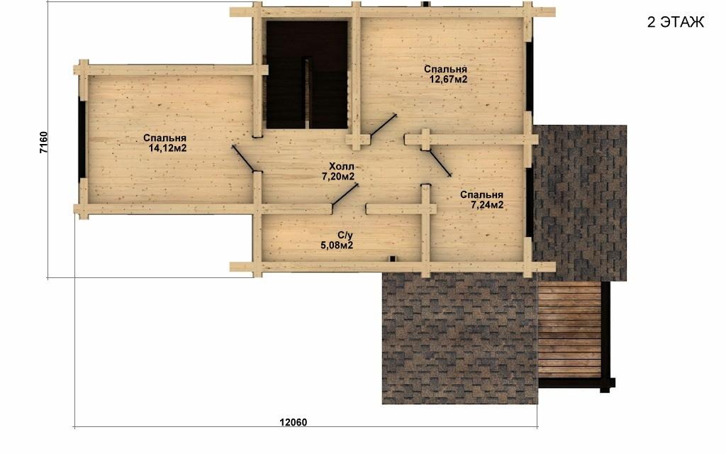 Фото #5: Красивый деревянный дом РС-36 из бревна