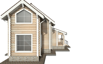 Фото #8: Красивый деревянный дом РС-36 из бревна